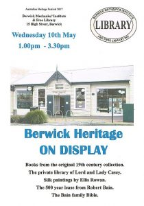 Berwick Heritage on Display
